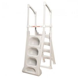 Echelle double/escalier en résine pour piscine hors-sol H2O