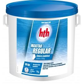 Chlore stabilisé HTH MAXITAB REGULAR désinfection régulière piscine galets 500g