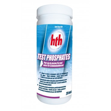 Tests HTH de mesure des phosphates en piscine (20 un.)