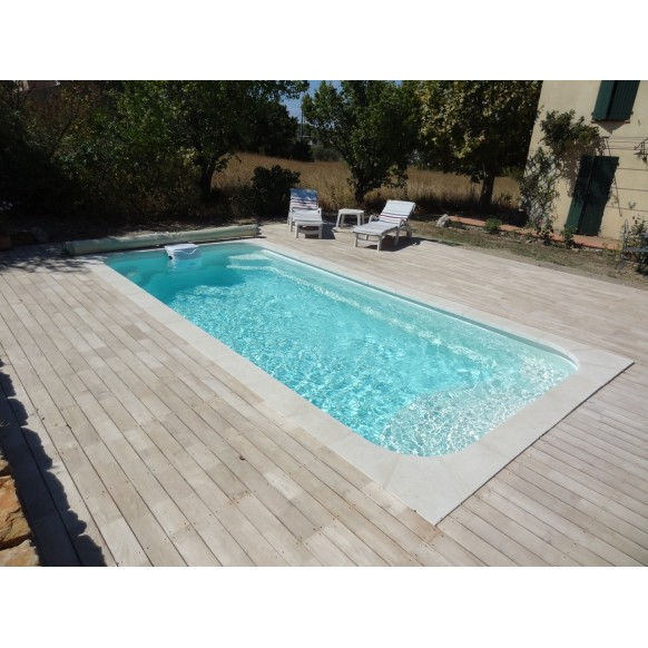 Coque polyester piscine R600 Bloc filtrant