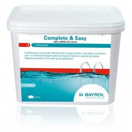 Entretien de piscine Bayrol Complete & Easy sans sulfate de cuivre désinfectant