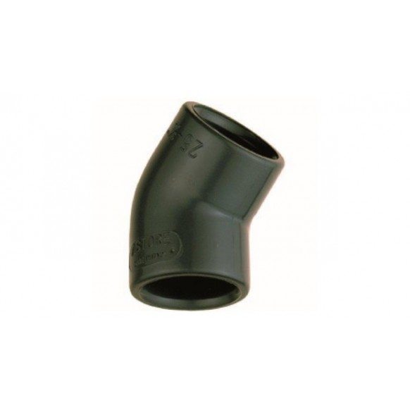 Courbe PVC 45° à coller