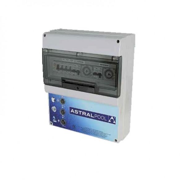 Coffret mono avec différentiel 30 mA, Pompe Surpresseur Eclairage Transfo 300 ou 600 W