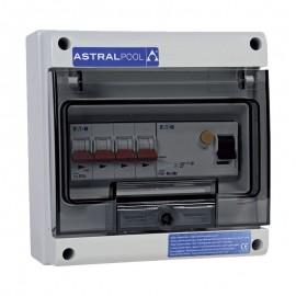 Coffret protection pompe à chaleur avec différenteil 30 mA Astralpool