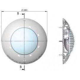 Projecteur extra-plat pour piscine bois