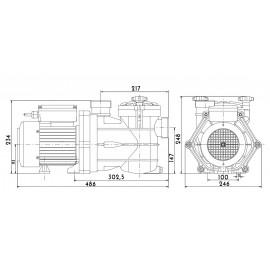 Pompe Filtration VIPool MNB + (remplace pompe Hydroswim HPS / HPV)