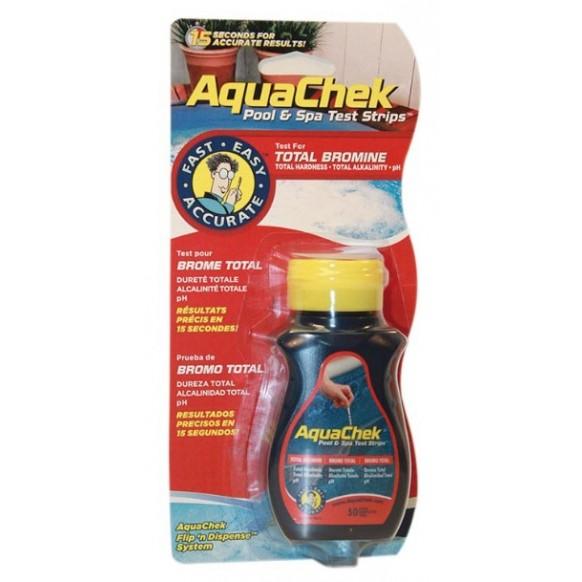 Boîte de 50 bandelettes de test Aquachek rouge 4-en-1