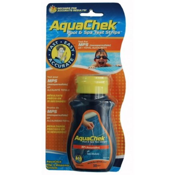 Boîte de 50 bandelettes de test Aquachek orange 4-en-1