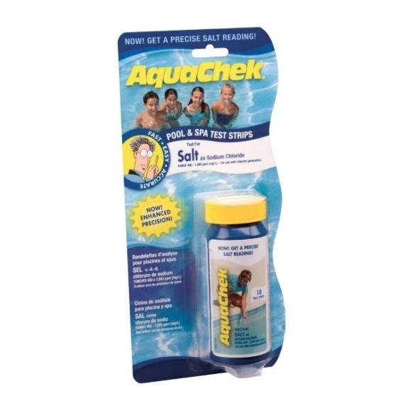 Boîte de 10 bandelettes de test sel eau de piscine