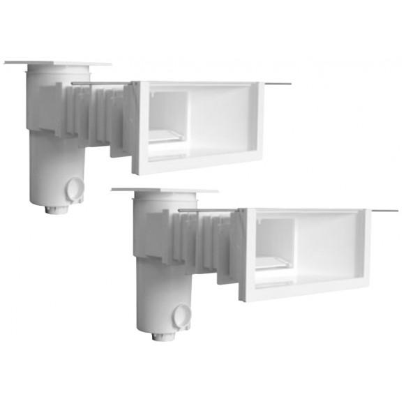 Skimmer Miroir maçonnerie liner, grande meurtrière Aquareva + 2 rallonges