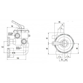 """Vanne multivoies 1"""" 1/2 avec montage New Génération ASTRAL"""