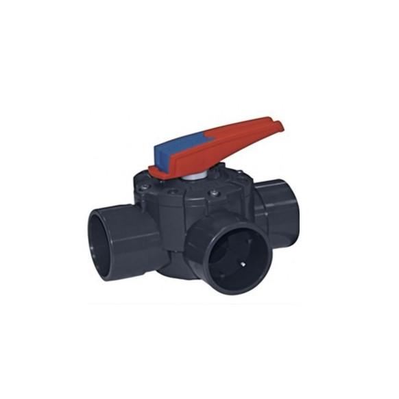 Vanne 3 voies manuelle 50/63 mm