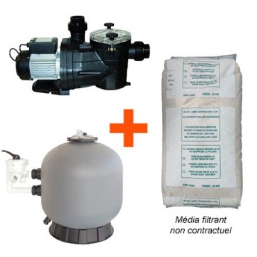 Kit Filtration Piscine, Vipool (pompe + filtre + sable)