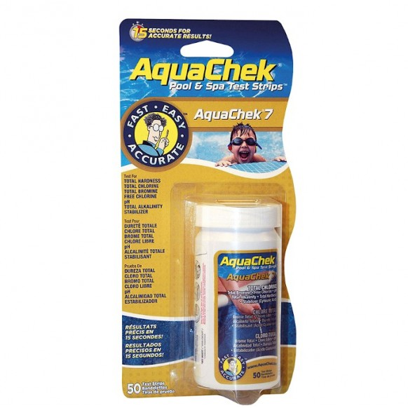 Bandelettes d'analyse AquaChek 7 - piscine et spa