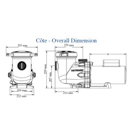 Pompe filtration Tristar mono schéma