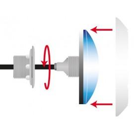 Projecteur GAIA à visser sur prise balai, LED blanche ou couleur