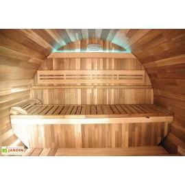 Sauna d'extérieur GAIA ROSSA 6 places ou 3 allongés
