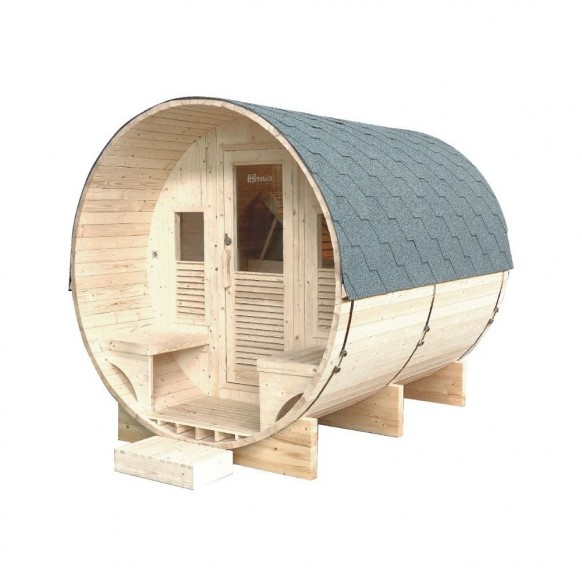 Sauna d'extérieur GAIA LUNA 6 places ou 3 allongés