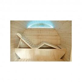 Sauna d'extérieur GAIA OMEGA 6 places ou 3 allongOSSAés