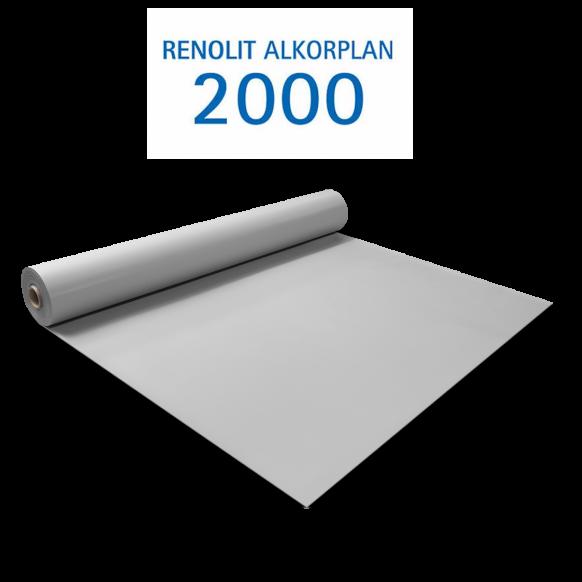 Liner PVC armé 150/100e Uni avec vernis Alkorplan gris clair