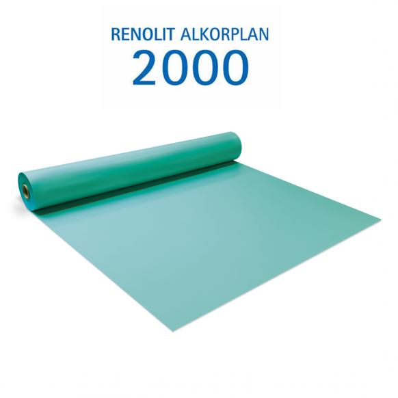 Liner PVC armé 150/100e Uni avec vernis Alkorplan Vert caraïbes
