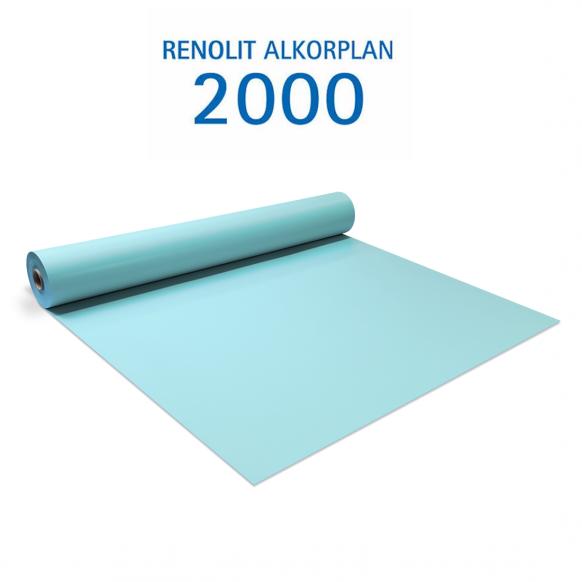 Liner PVC armé 150/100e Uni avec vernis Alkorplan Bleu clair