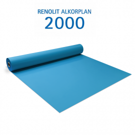 Liner PVC armé 150/100e Uni avec vernis Alkorplan Bleu adriatique