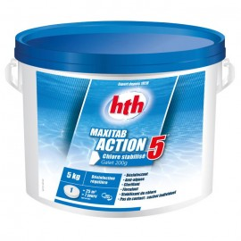 Chlore multifonction hth® MAXITAB Action 5 galets 200g